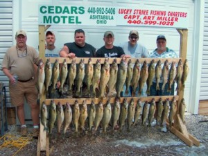 lucky strike lake erie walleye fishing charters ashtabula geneva and conneaut ohio