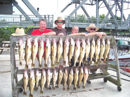 lucky strike lake erie walleye, yellow perch, steelhead trout and smallmouth bass fishing charters in geneva , ashtabula and conneaut ohio