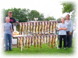 lucky strike lake erie walleye charters conneaut ohio for trophy walleye steelhead trout yellow perch and smallmouth bass